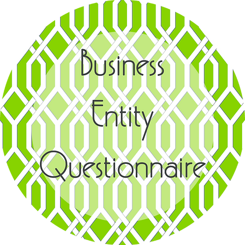 Worksheets--- Business Entity Questionnaire