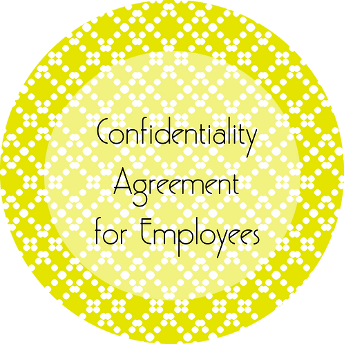 Blogs--- Confidentiality Agreement for Employees
