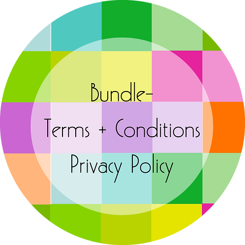 Cakes and Desserts Business---Bundled Terms & Conditions and Privacy Policy