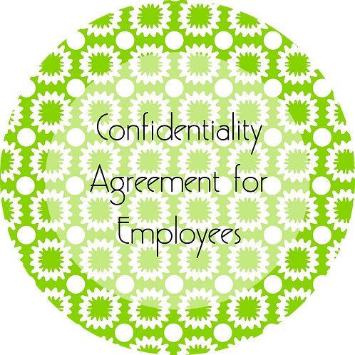 Painters--- Confidentiality Agreement for Employees
