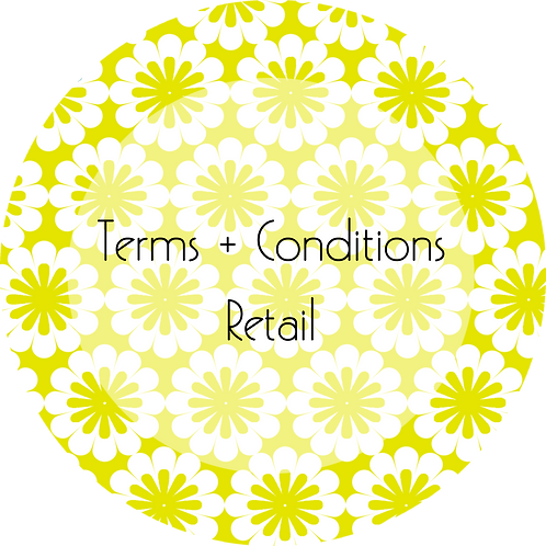 Floral Design--- Terms & Conditions Online