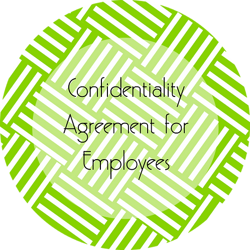 Event Planner--- Confidentiality Agreement for Employees