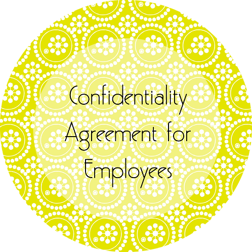 Writes & Authors--- Confidentiality Agreement for Employees