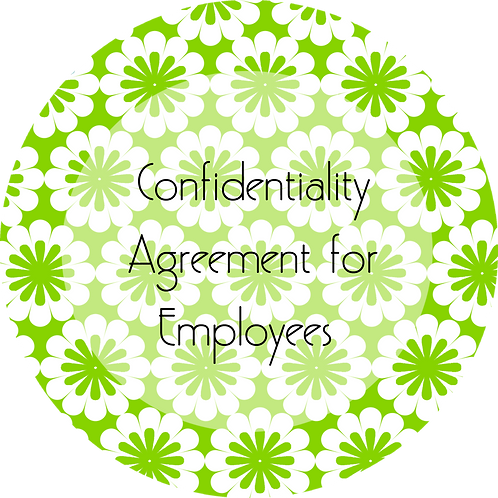 Floral Design--- Confidentiality Agreement for Employees