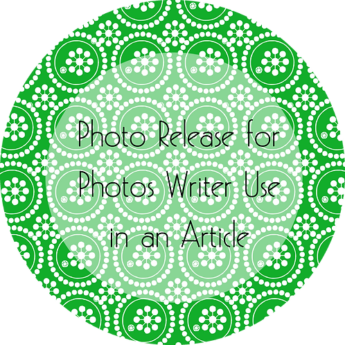 Writers & Authors---Photo Release for Photos Writer Using