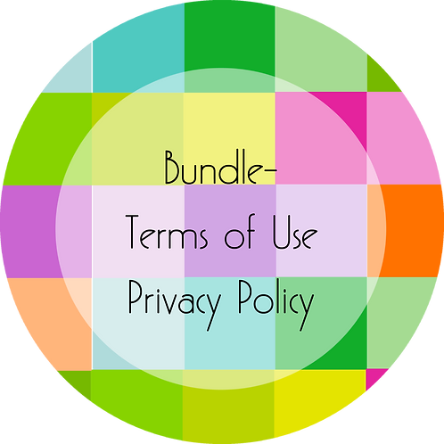 Wedding Cake Design---Bundled Terms of Use and Privacy Policy