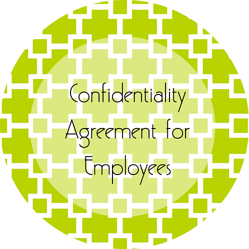 Graphic and Web Design--- Confidentiality Agreement for Employees