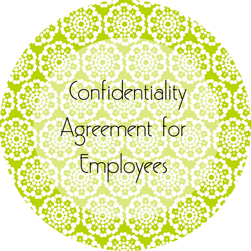 Event Rentals--- Confidentiality Agreement for Employees
