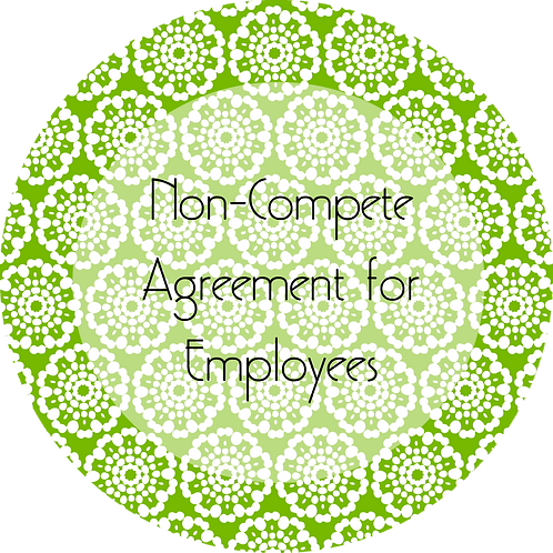 Event Rentals--- Non-Compete Agreement for Employees
