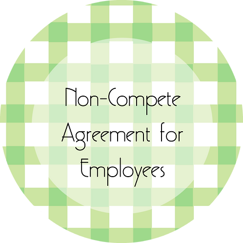 Calligraphy & Paper Goods--- Non-Compete Agreement for Employees
