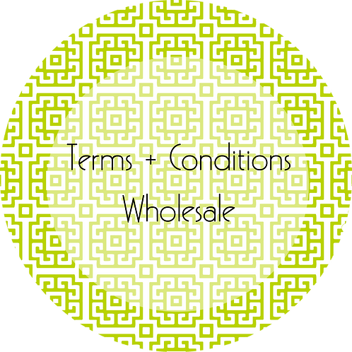 Visual Arts--- Terms & Conditions Wholesale