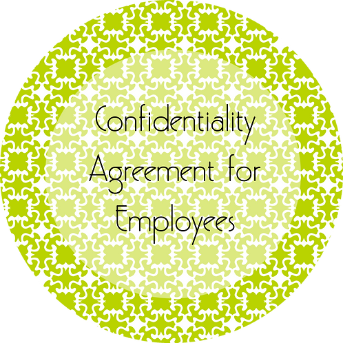 Wedding Cake Design--- Confidentiality Agreement for Employees