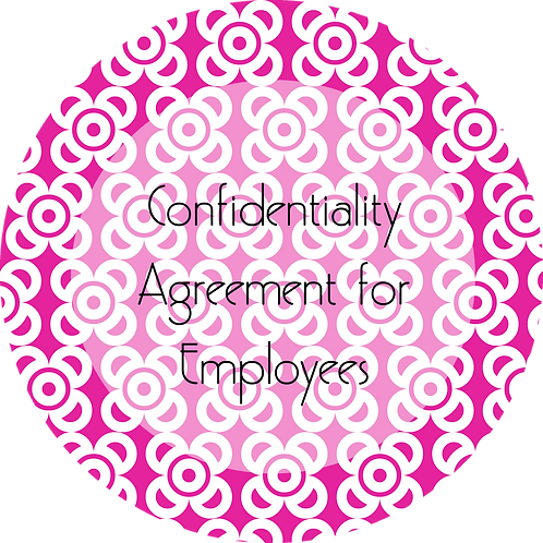 Photography--- Confidentiality Agreement for Employees