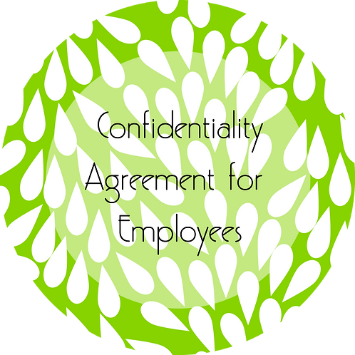Cakes and Desserts Business--- Confidentiality Agreement for Employees