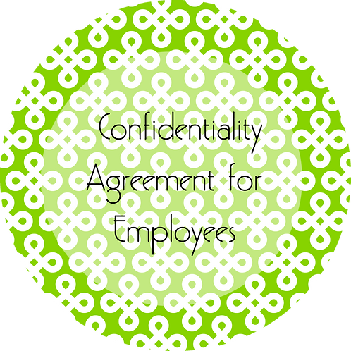 Interior Design--- Confidentiality Agreement for Employees