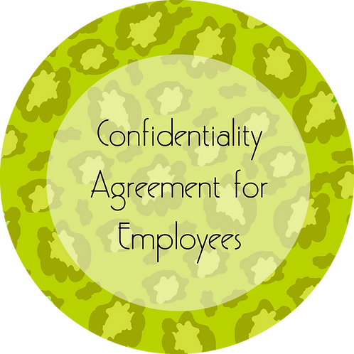 Fashion--- Confidentiality Agreement for Employees