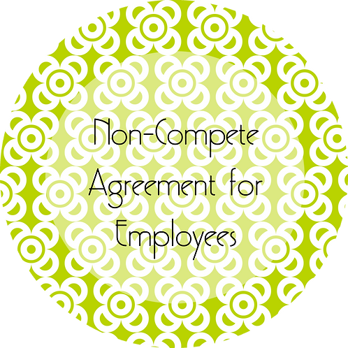 Photography--- Non-Compete Agreement for Employees