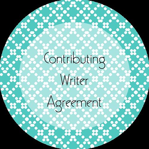 Blogs---Contributing Writer Agreement