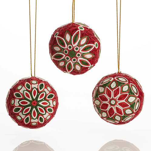 Quilled Christmas Ball Ornament