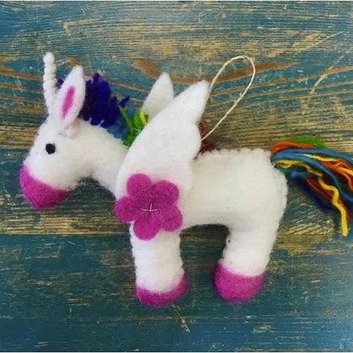 Wool Unicorn Ornament