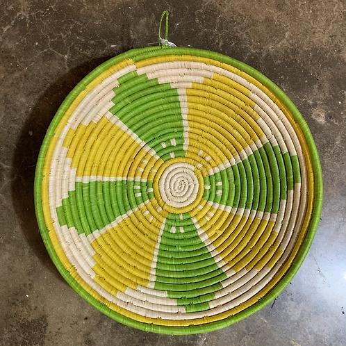 Lemon Lime Raffia Basket
