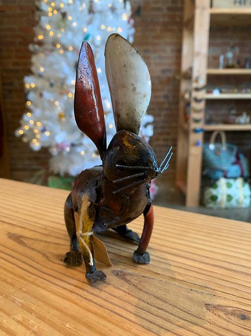 Metal Rabbit Figurine