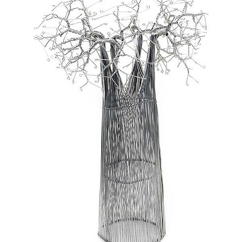 RECYCLED WIRE AFRICAN BAOBAB TREE