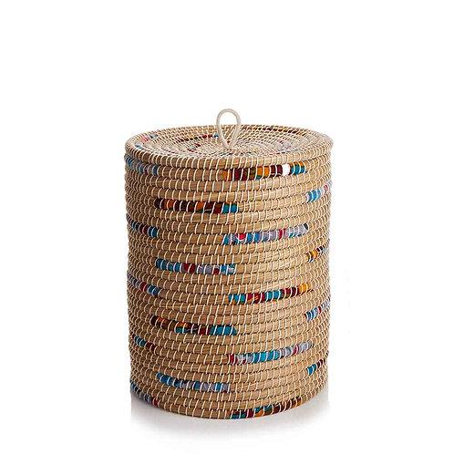 Chindi Stripe Laundry Basket