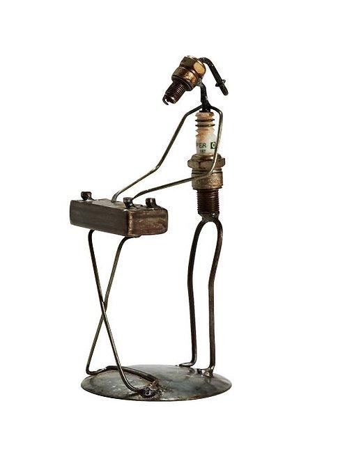 Keyboard Sparkplug Figurine