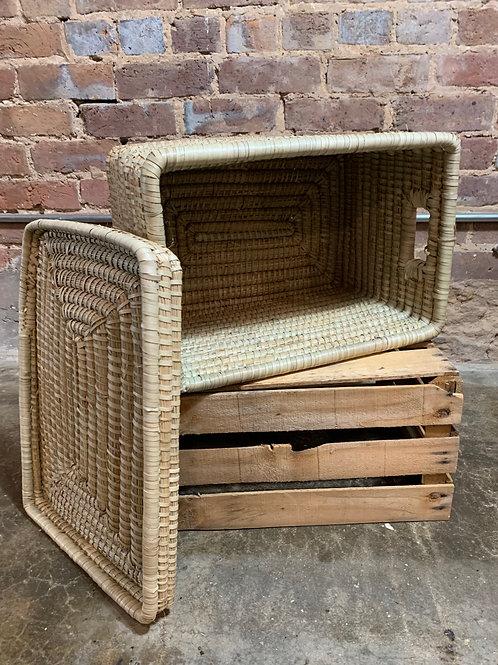 Kaisa Grass Basket with Lid Medium