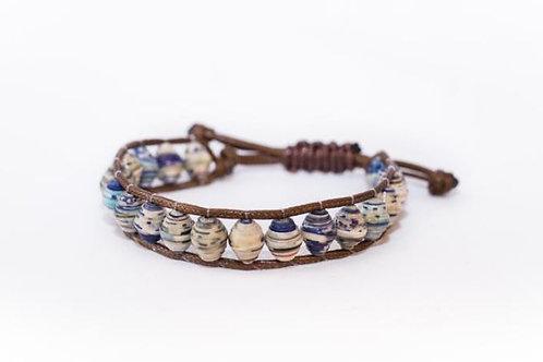 Paper Bead Pull Bracelet