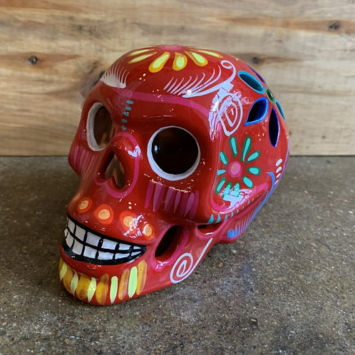 Red Sugar Skull with Cutouts
