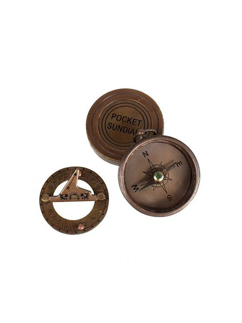 Pocket Compass and Sundial
