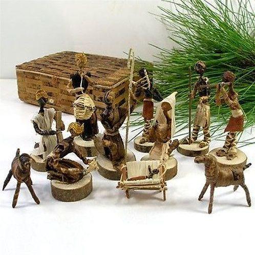 Banana Fiber Nativity Set