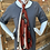 Thumbnail: copy of Sari Long Scarf Red, Cream, and Grey