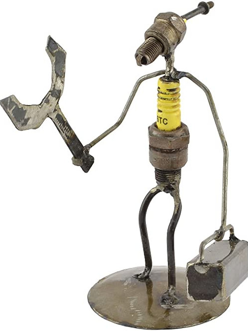 Handyman Spark Plug Sculpture
