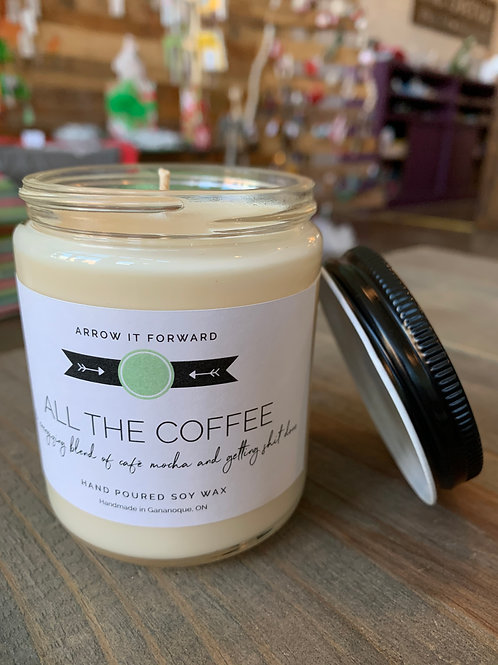 All The Coffee Candle