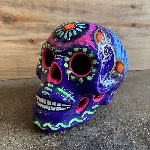 Purple Sugar Skull with Cutouts