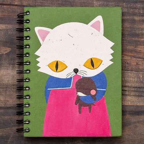 Whisper White Cat Notebook