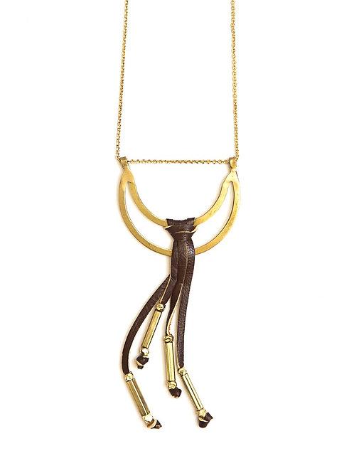 Pasadena Tassel Necklace Brass