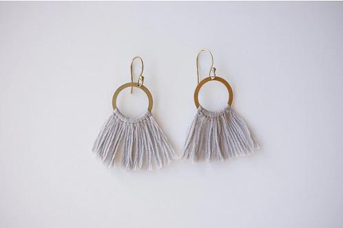 Grey Fringe Earrings