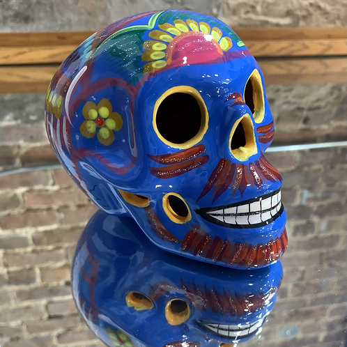 Blue with Yellow Skull