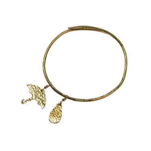 Umbrella and Raindrop Bangle