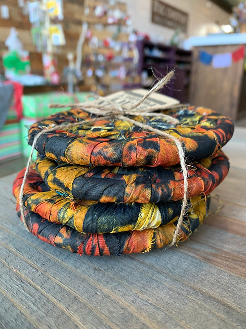 Fabric Coasters Set of 4