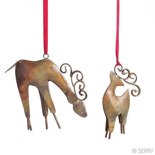 Iron Reindeer Ornament