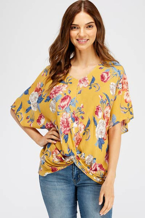 Twisted Spring Floral Top