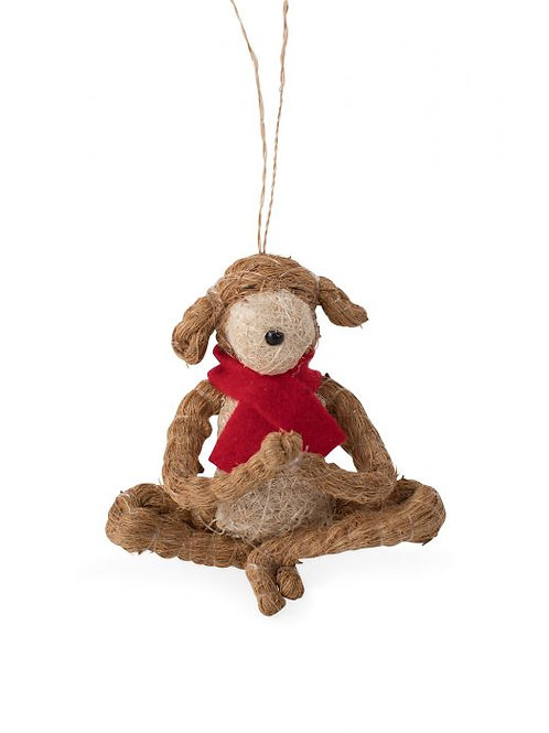 Yoga Dog Ornament