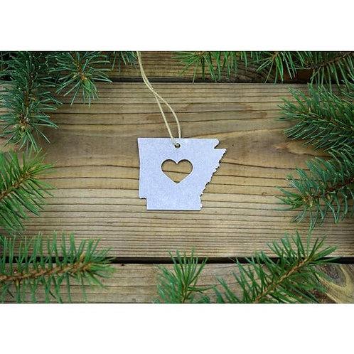 Arkansas Metal Ornament