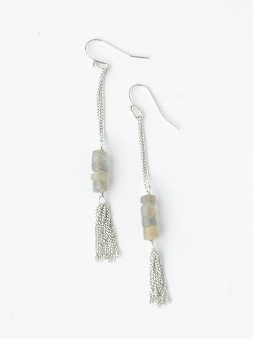 Stepping Stone Earrings Silver