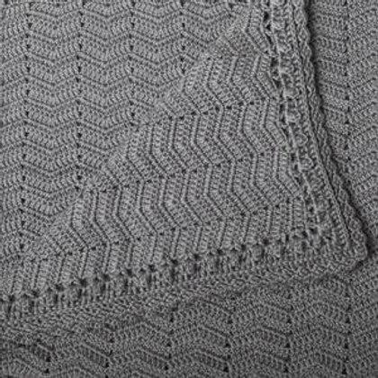 Grey Ripple Baby Blanket